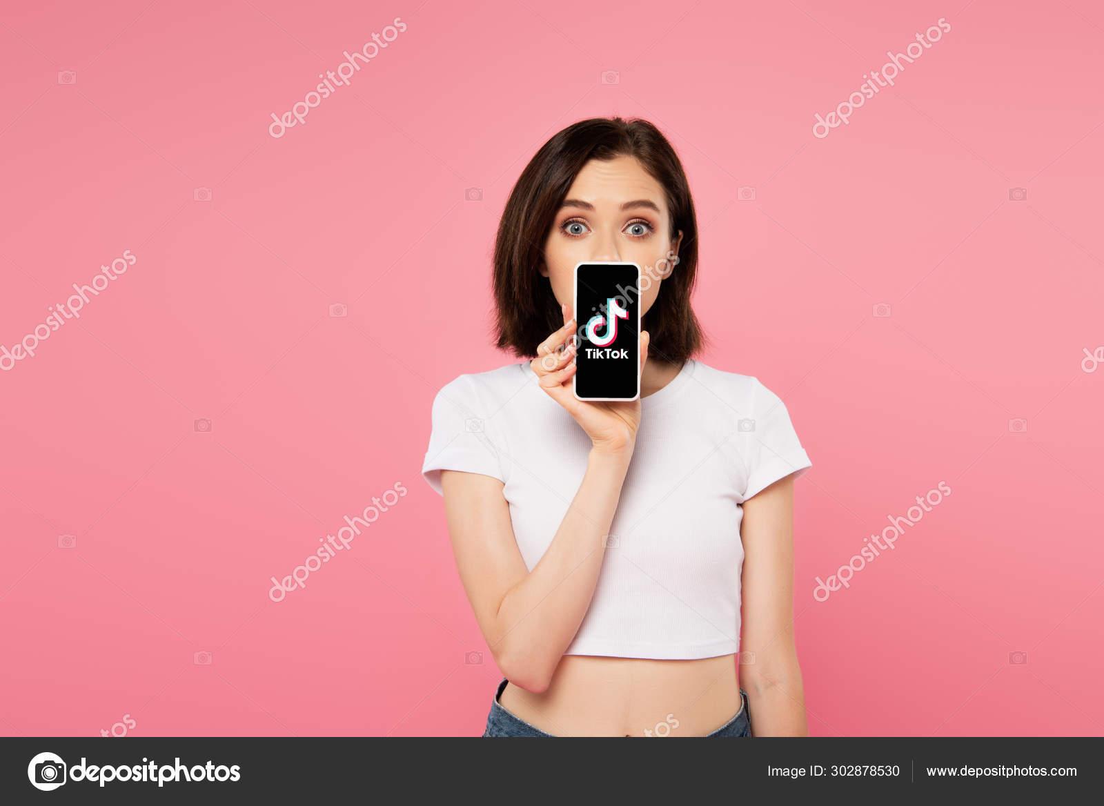 Kyiv Ukraine July 2019 Shocked Girl Holding Smartphone Tiktok Logo Stock Editorial Photo C Igorvetushko 302878530