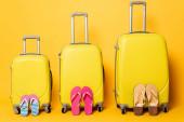 utazási táskák családi flip papucs sárga