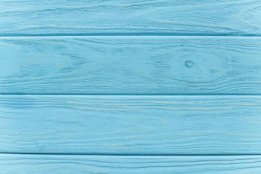 Top view of wooden blue background stock vector