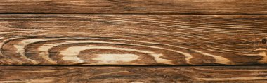 Top view of wooden brown rustic background, panoramic shot stock vector