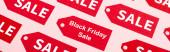 weboldal fejléc címkék eladó és fekete péntek betűk rózsaszín