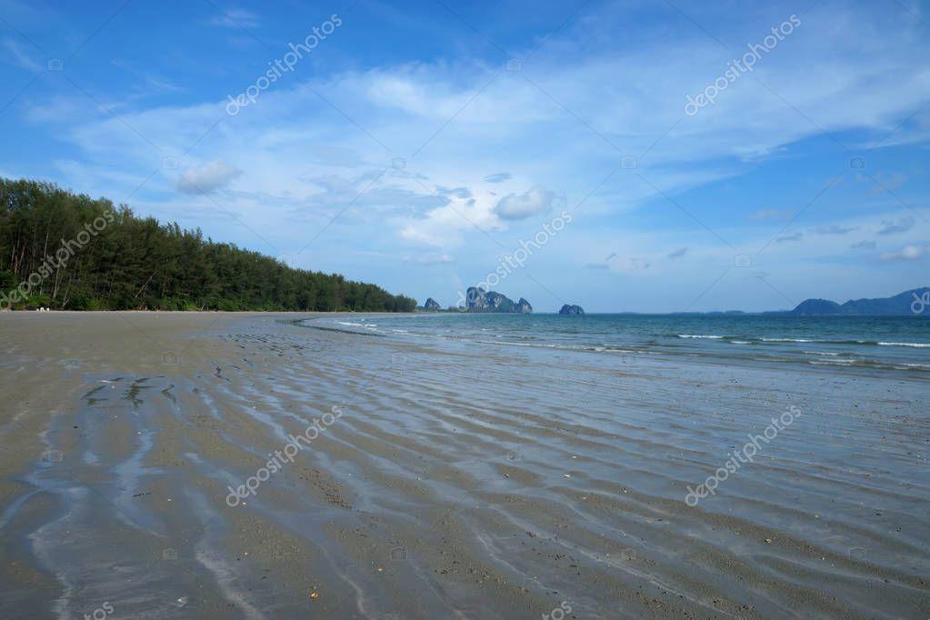 Blue sky on the beach at Andaman sea in summer season