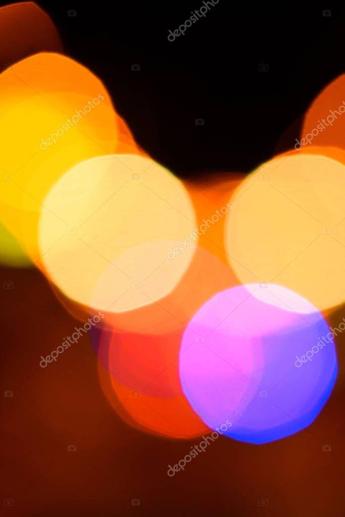 Фотообои close up view of colorful bokeh lights as background