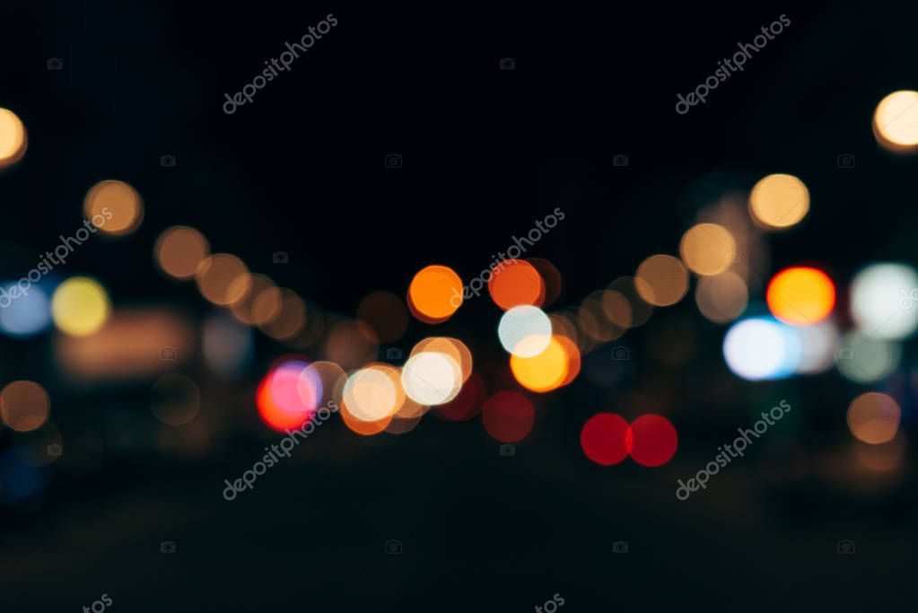 Фотообои close up view of colorful bokeh lights as background