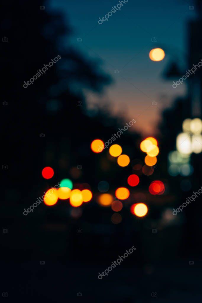Фотообои colorful bokeh lights of night city as background