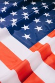 Photo close up view of folded american flag background