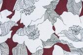 celý rám obrazu z textilie s vzorem květin pozadí