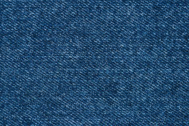 full frame image of blue denim fabric background