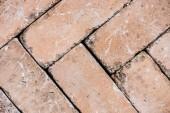 vista superiore del vecchio weathered sfondo marrone mattoni