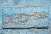 pohled shora věku modré pozadí, zvětralých dřevěných