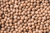 Fotografie full frame of healthy raw chickpeas as background