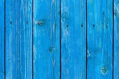Full frame of blue wooden planks as backdrop stock vector
