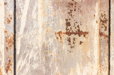 Grungy damaged old metallic background stock vector