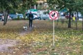 Fotografie Nikde psí hovínko v podzimním parku