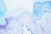 Fotografie abstract light blue and purple watercolor background