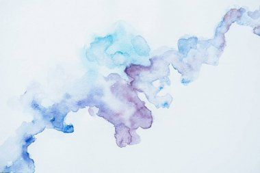 abstract texture with blue and purple watercolor blots