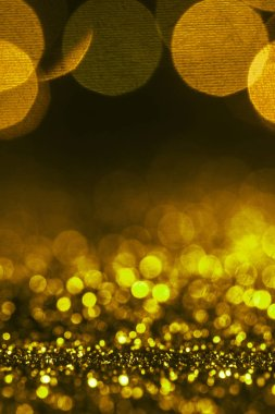 Christmas sparking background with golden glitter and bokeh stock vector