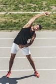 mužské sportovce na Běžecká stopa na sportovní hřiště