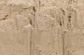 Fotografie textura přírodní béžová písek v poušti, horní pohled