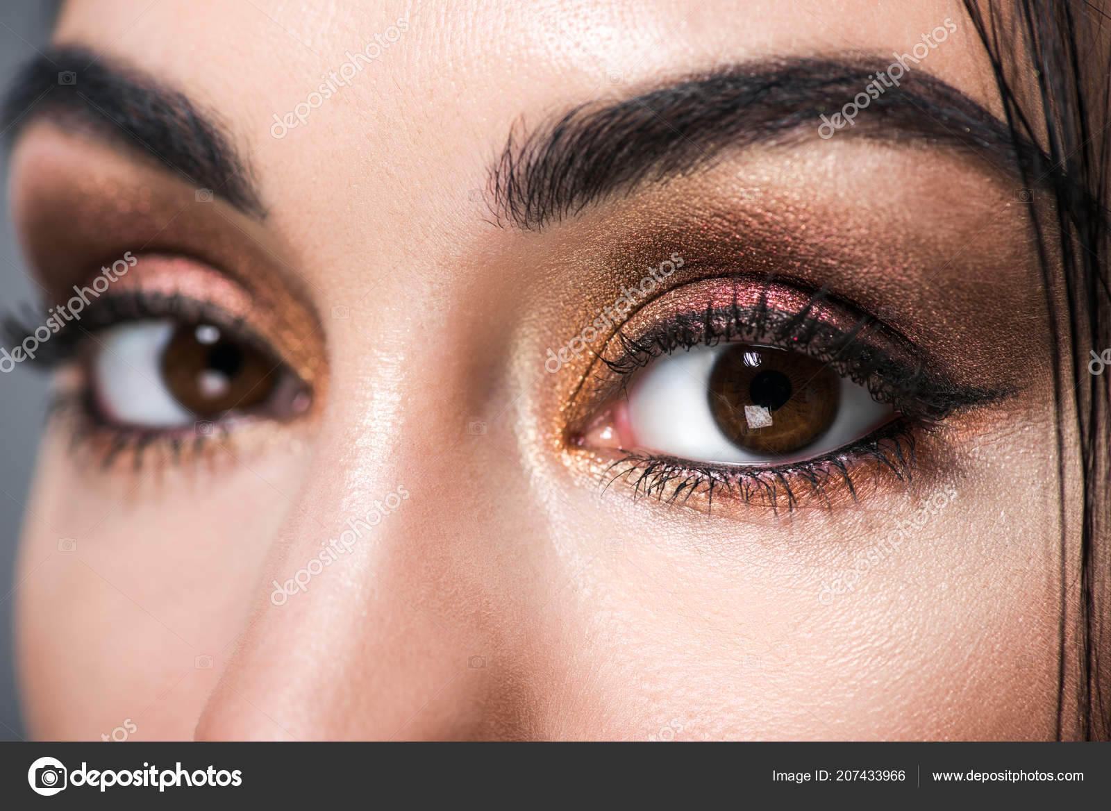 Close Beautiful Female Eyes Makeup Stock Photo Allaserebrina