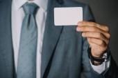 Fényképek részleges kilátás nyílik üzletember találat kártya-val másol hely
