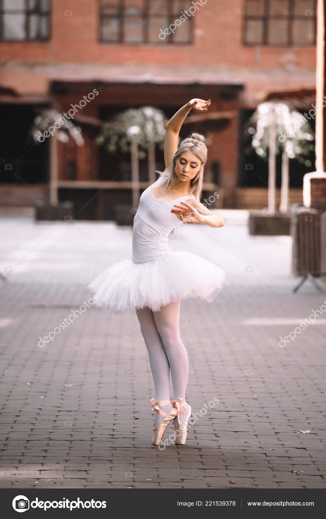 Beautiful Young Ballerina Pointe Shoes Dancing City Street Free Stock Photo C Allaserebrina 221539378
