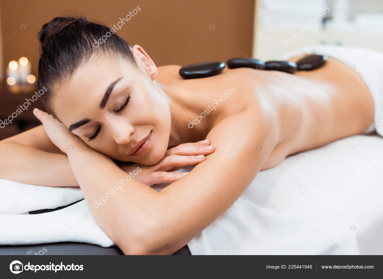 Hot black girl massage