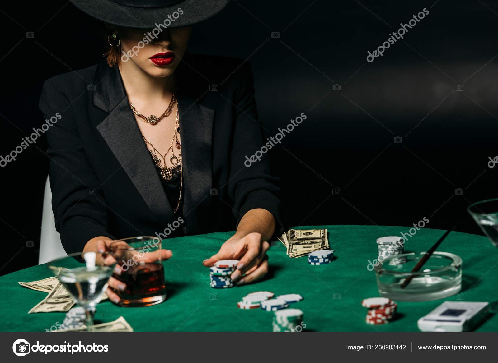 Superb Attractive Gambler Jacket Hat Holding Glass Whiskey Poker Home Remodeling Inspirations Basidirectenergyitoicom