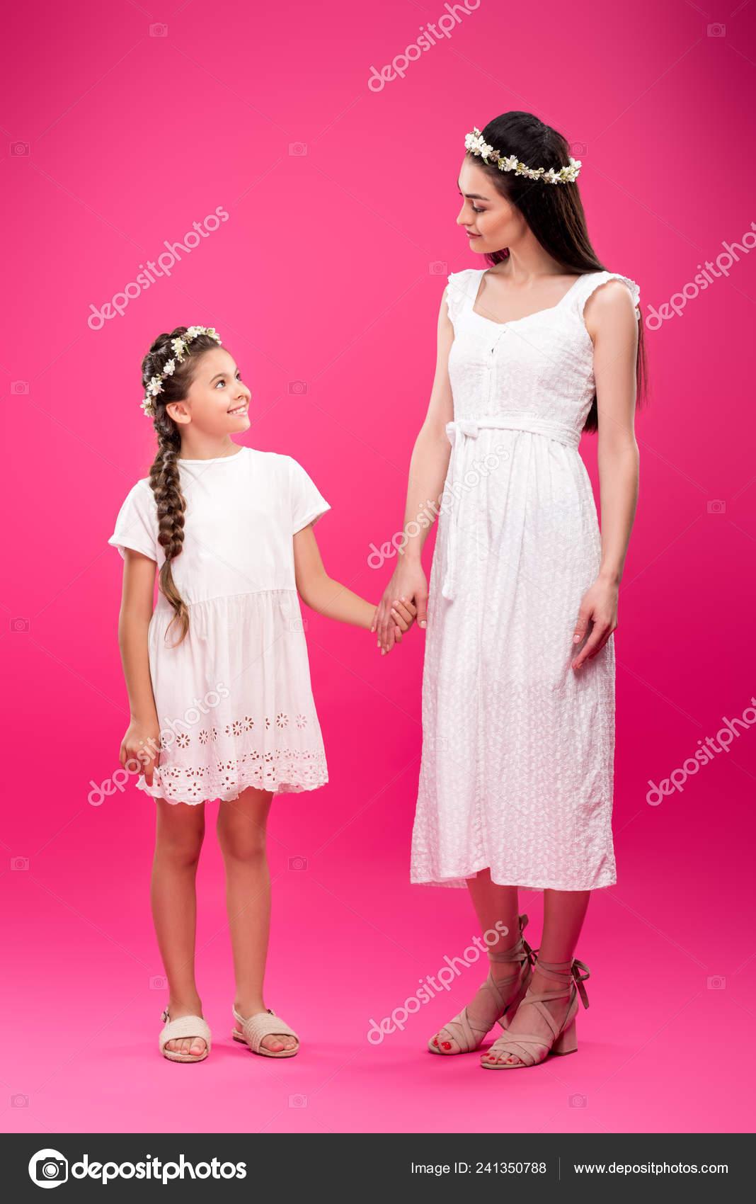 Blancos Hermosa Guirnaldas Hija Florales Madre Vestidos Feliz uTOPZikX