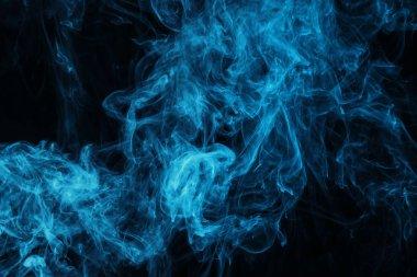 dark texture with blue mystic steam