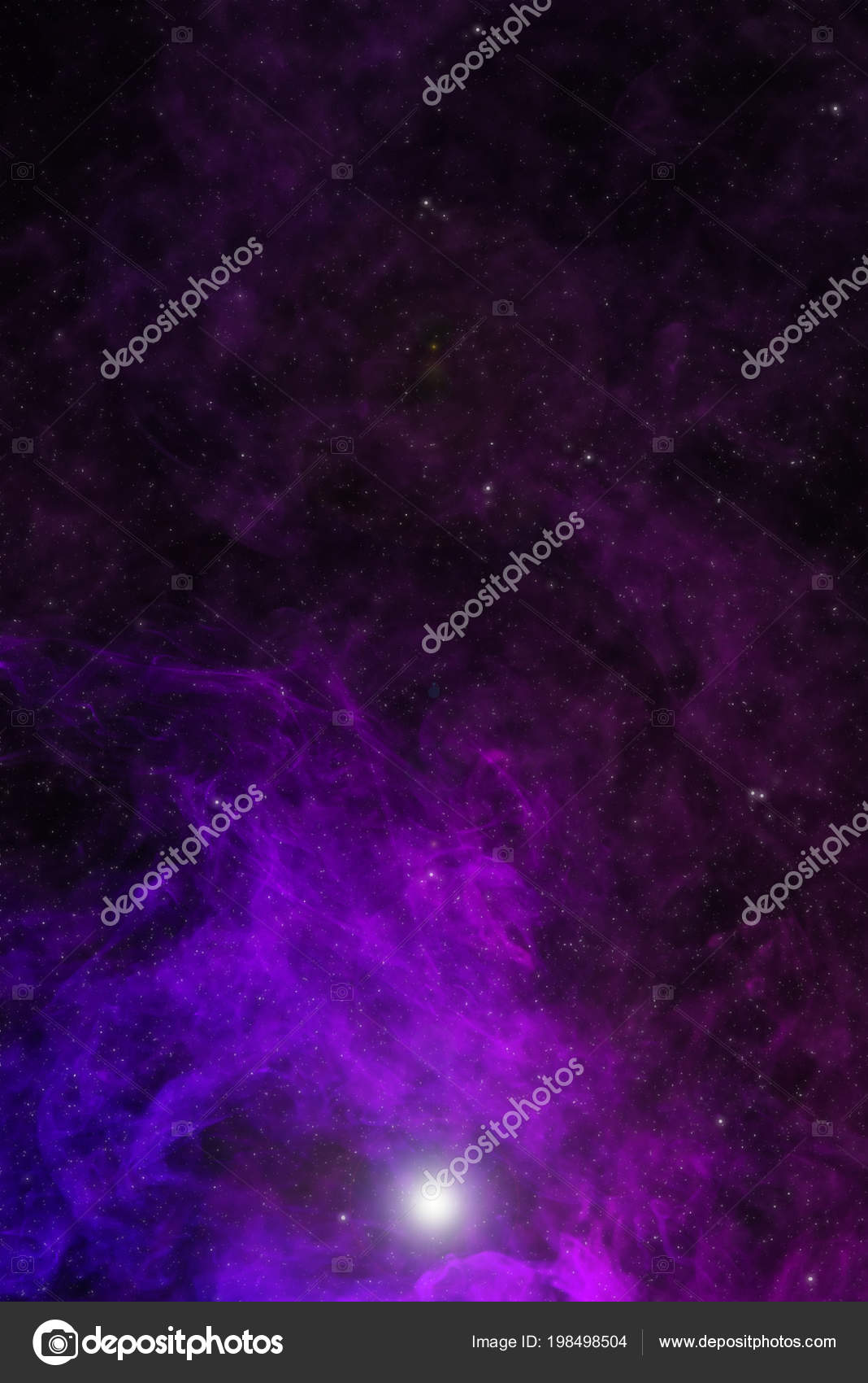 beautiful universe background violet smoke stars glowing light