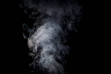 abstract background with grey smoke on black