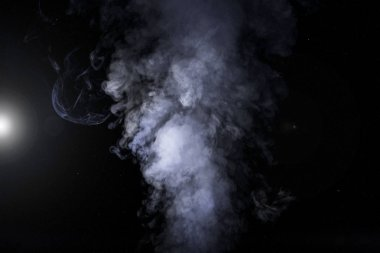 abstract white smoke and light on black background