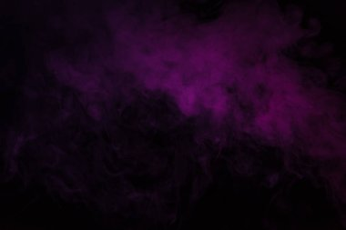 Abstract black background with violet smoke stock vector