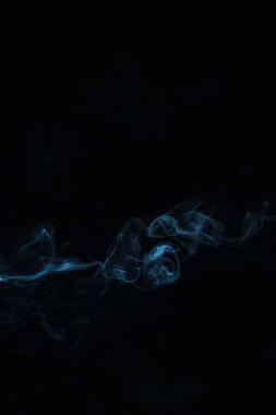 blue smoky swirl on black background
