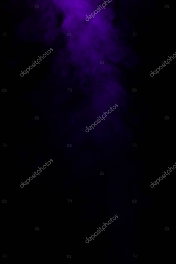 abstract mystical black background with purple smoke