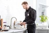 Usmíval se policista zvuková deska v kuchyni