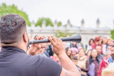 Unidentified Turkish man performs Zurna(clarion)