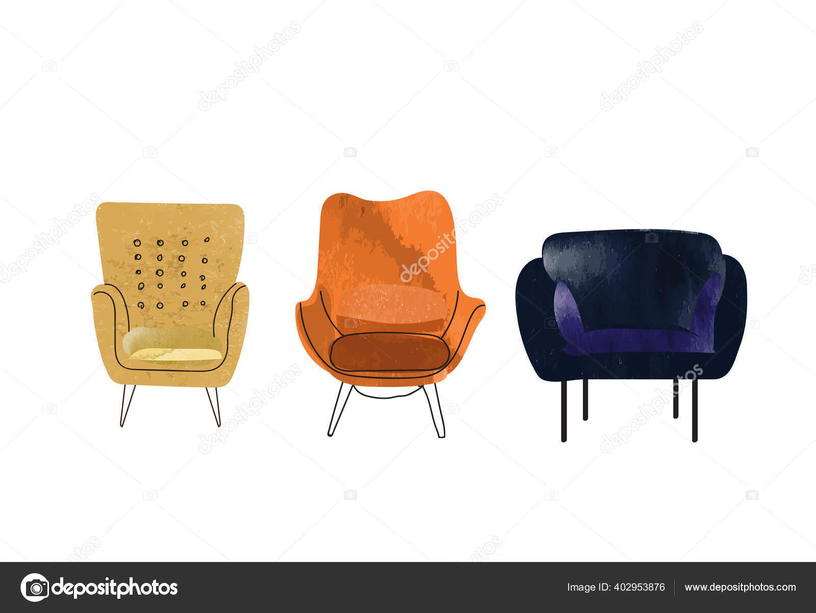 Armchair Sketch Hand Drawn Chair Vector Furniture Illustration Mid Century Vector Image By Joanna Rosado Gmail Com Vector Stock 402953876