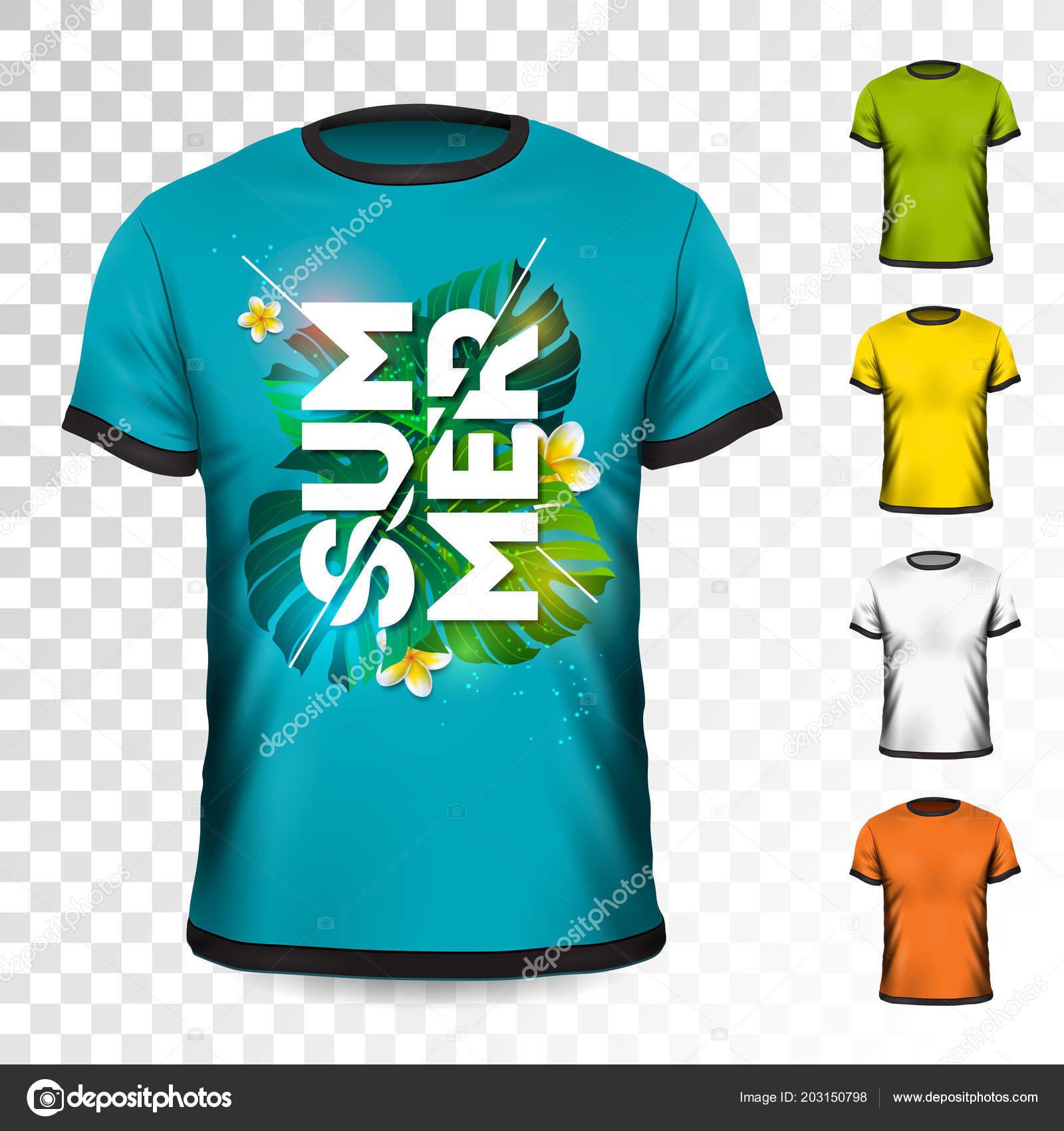 Design Kinderkleding.Zomervakantie T Shirt Design Met Tropische Bladeren En Bloem Op