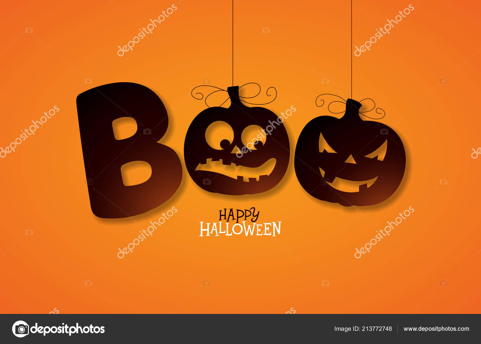 Happy Halloween Pumpkin 2017 Invitation Psd Happy Halloween Card