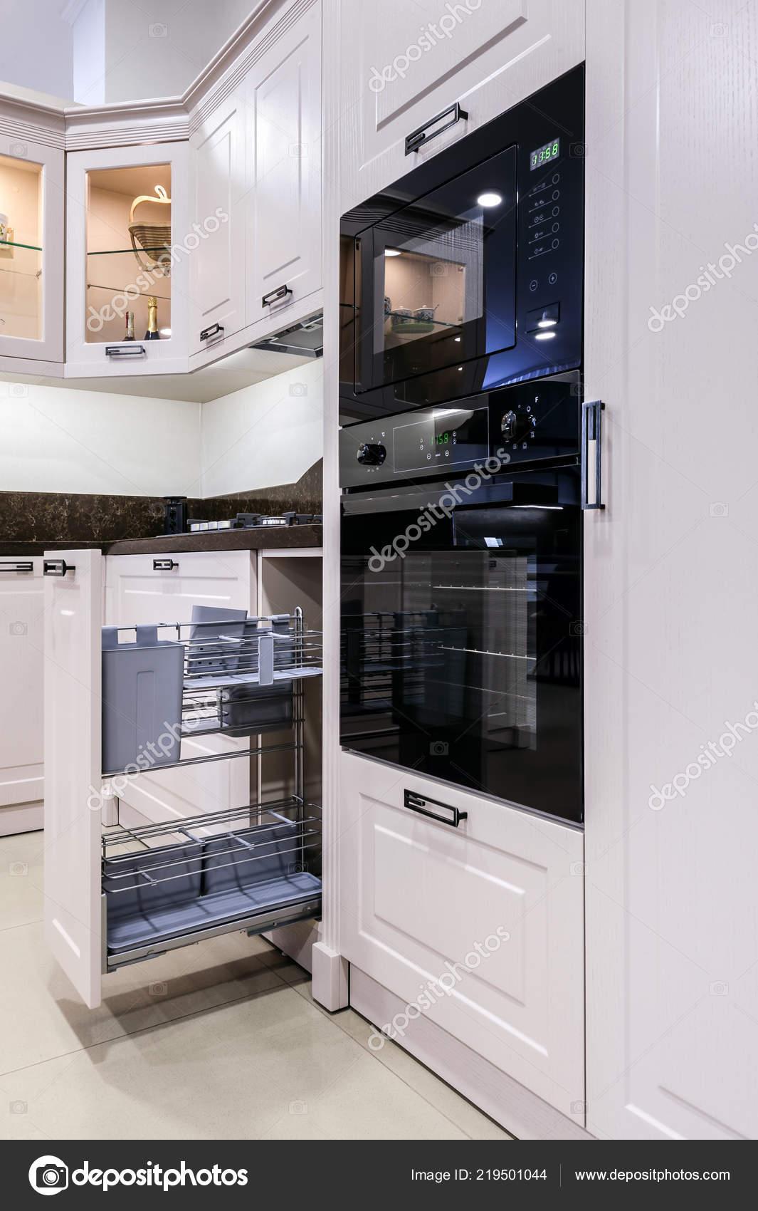 Entzuckend Luxus Modern Beige Küche Interieur U2014 Stockfoto