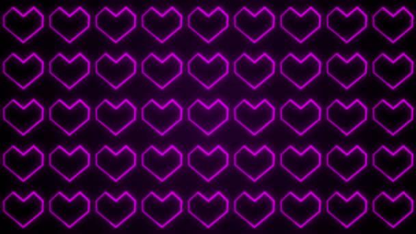 A szív hátterek grafikák, Featuring Valentin-nap izzó formájú és részecskék. Esküvői hátterek bemutatókban is használható.