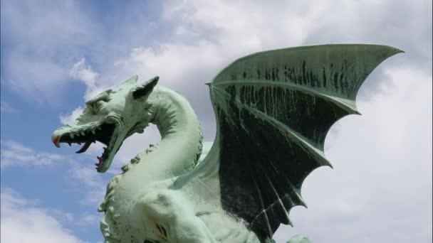Dragon szobor a sárkány-híd, Ljubljana, Szlovénia