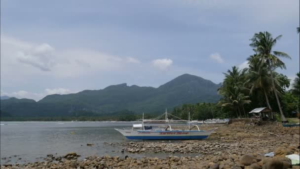Boats on beach. El Nido islands