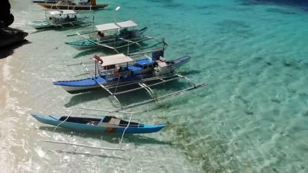 Travel concept with boats fot sea trip. El Nido islands