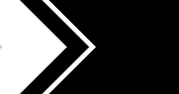 Arrows Background Transition/ Animation of black and white design arrows transition background, with in and out going forward and backward