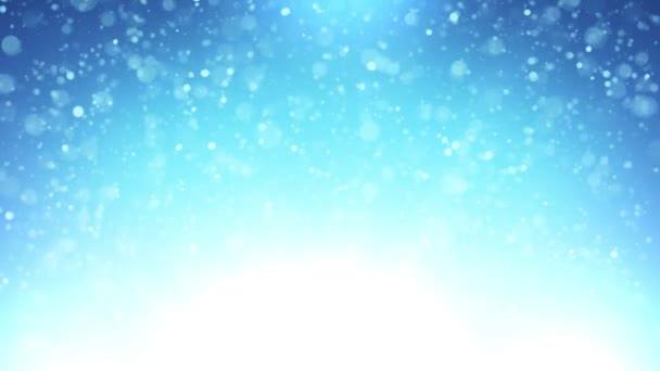Abstract Blue Background Abstract Blurred Sky Or Water Background With Thin Particles Flying And Floating
