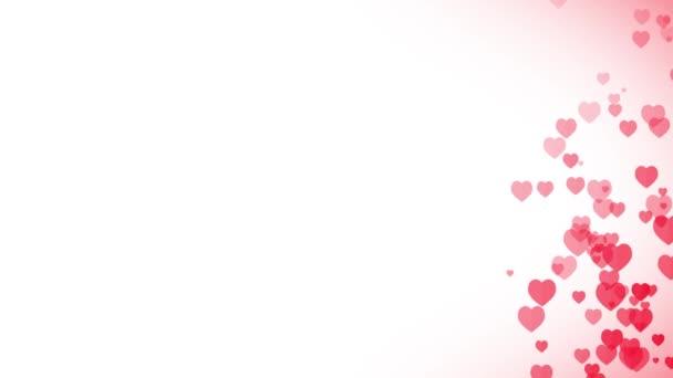 Srdce pozadí pro Valentine den / animované pozadí srdcem rising pro den svatého Valentýna svátek