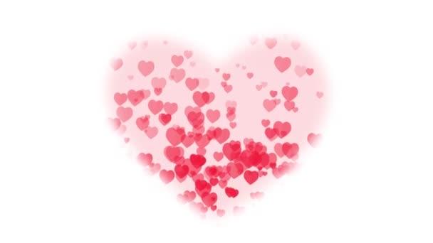 Den svatého Valentýna pozadí / animované pozadí s velkým srdcem masku a stoupající srdíčka pro den svatého Valentýna svátek